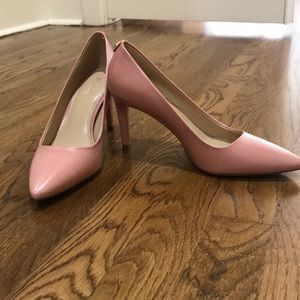 Pink leather Michael Kors 6.5 stiletto pumps